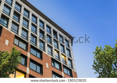 Suburban apartment building on a sunny day