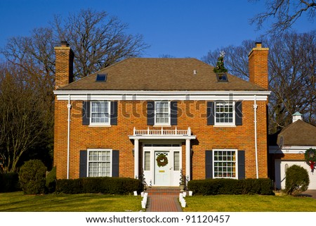 Suburban architecture in Illinois - stock photo
