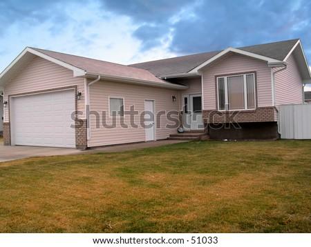 Suburban home. - stock photo