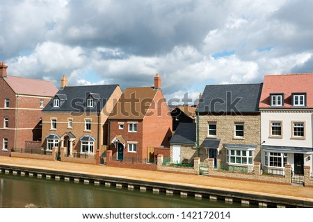 Suburban housing development - stock photo
