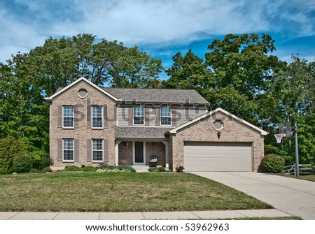 Brick Two Story House Stock Images Royalty Free Images