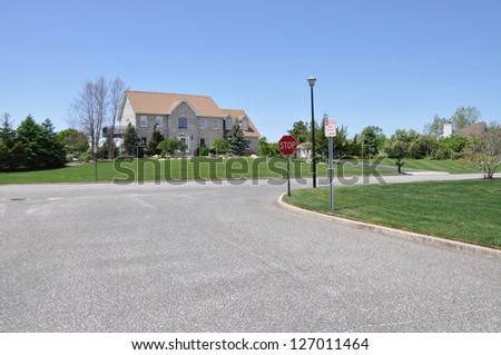 Suburban Neighborhood Street Home