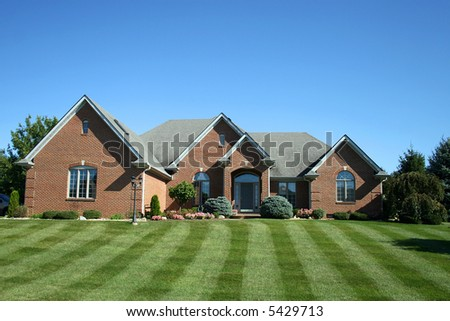 suburban two-story home - stock photo