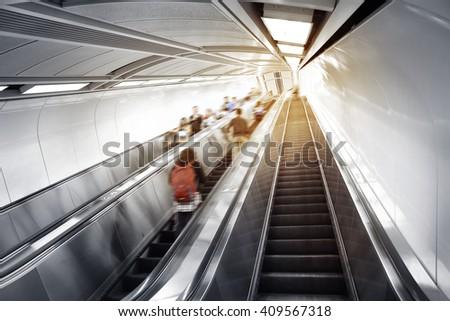 Subway elevator - stock photo