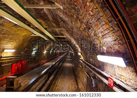 Subway in Galata hill at Istanbul Turkey - transportation background
