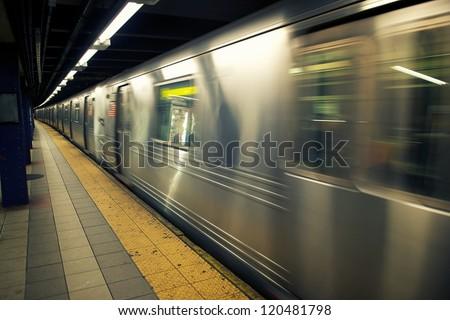 subway new york - stock photo
