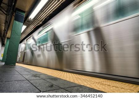 Subway NYC - stock photo