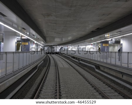 subway railway perspective - stock photo