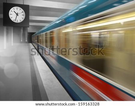 Subway speeding - stock photo