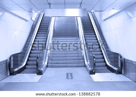 Subway stairs