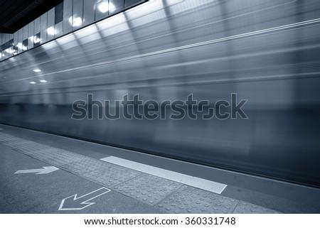 Subway station - stock photo