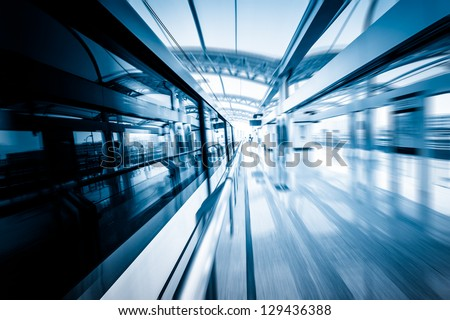 subway station of shanghai china.modern building concept. - stock photo