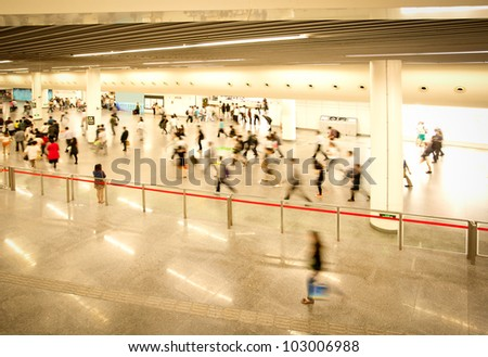 Subway station people - stock photo