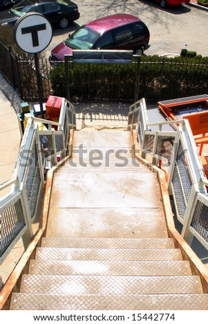 Subway Station Stairs