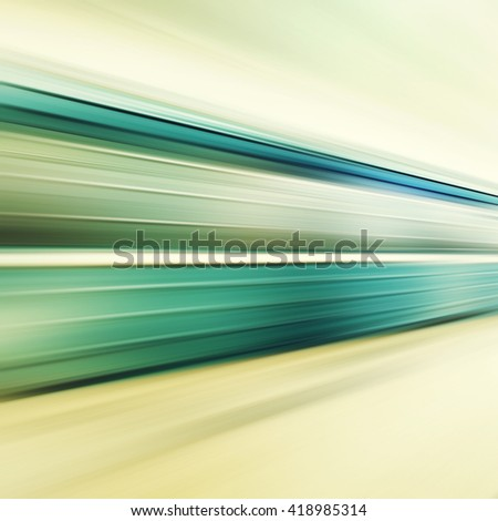 Subway train in motion blur. - stock photo