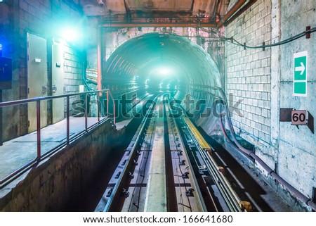 Subway Tunnel - stock photo