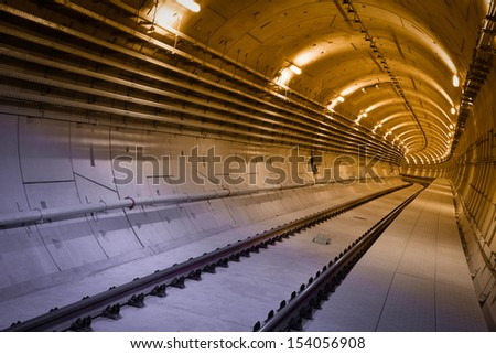subway tunnel before a usage