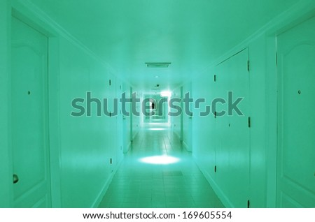 Subway tunnel. Light at End of Tunnel - stock photo