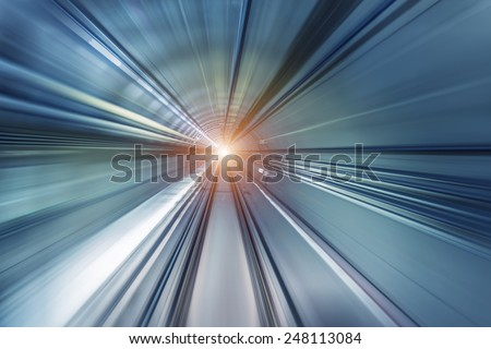 subway tunnels - stock photo