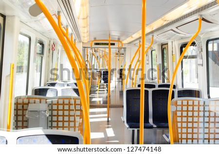 Subway wagon inside - stock photo