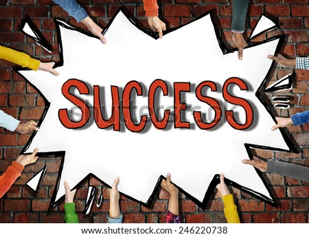Success Achievemnt Victory Accomplishment Growth Winning Excellence Concept - stock photo
