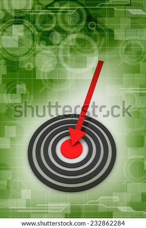 Success arrow - stock photo