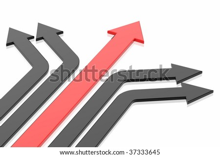 Success arrow isolated in the white background - stock photo