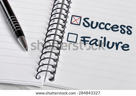 Success box checked on notebook page