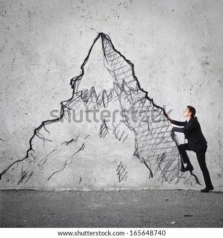 Success Climb - stock photo