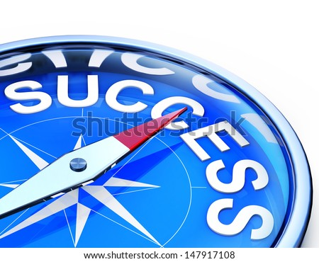 success compass - stock photo