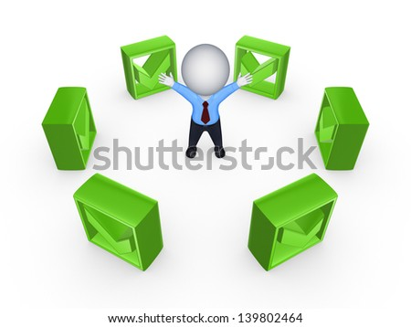 Success concept.Isolated on white.3d rendered. - stock photo