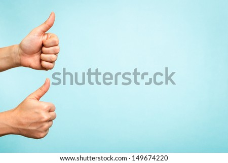 Success concept on blue background - stock photo