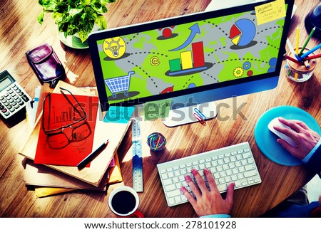 Success Crossword Puzzle Words Achievement Game Concept - stock photo
