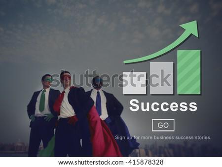 Success Excellence Accomplishment Achievement Concept - stock photo