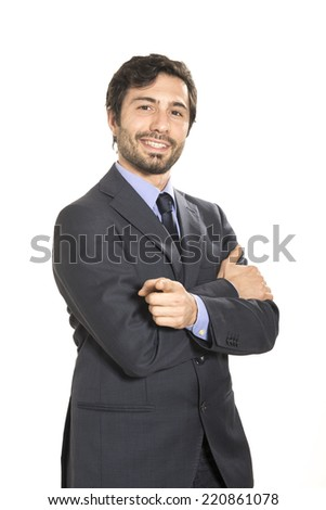 Success for a salesman - stock photo