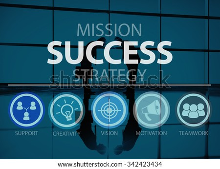 Success Growth Accomplishment Achievement Goal Concept - stock photo