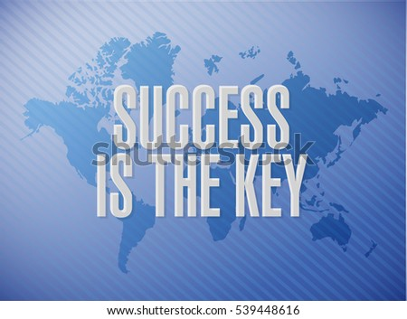 Success key world map sign concept ilustracin en stock 539448616 success is the key world map sign concept illustration design graphic gumiabroncs Images