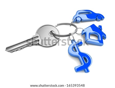 Success key. Concept. 3d illustration. - stock photo