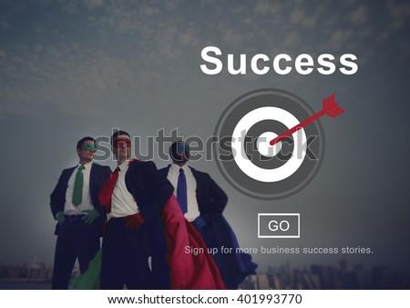 Success Mission Motivation Homepage Concept - stock photo