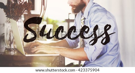Success Mission motivation Victory Goal Growth Concept - stock photo