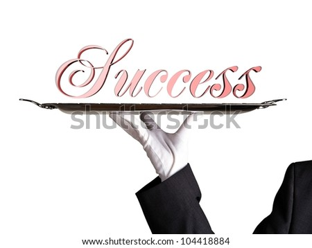 success on a dinner tray - stock photo