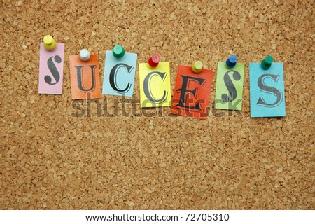 Success pinned on noticeboard