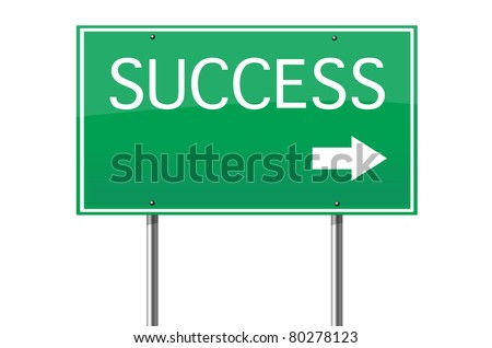 success road sign