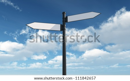 Success roadsign - Isolated on Sky Background