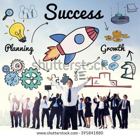 Success Startup Innovation Growth Improvement Concept - stock photo