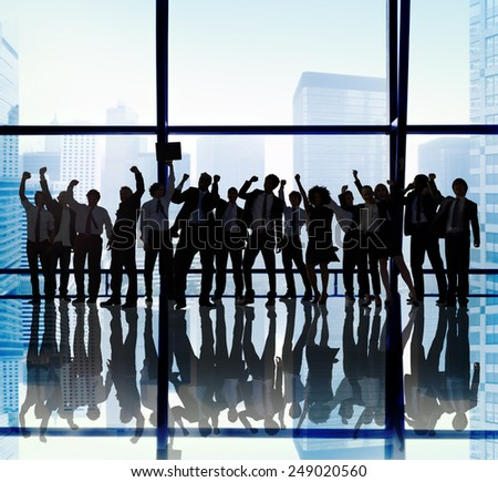 Success Team Teamwork Togetherness Business Coworker Occupation Concept - stock photo