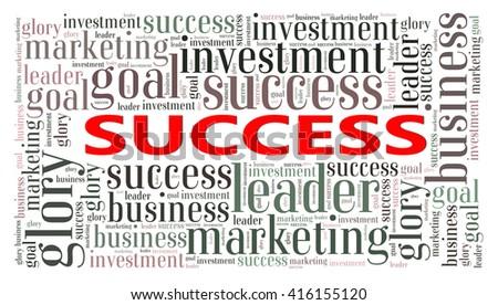 Success text cloud - Business Concept - stock photo