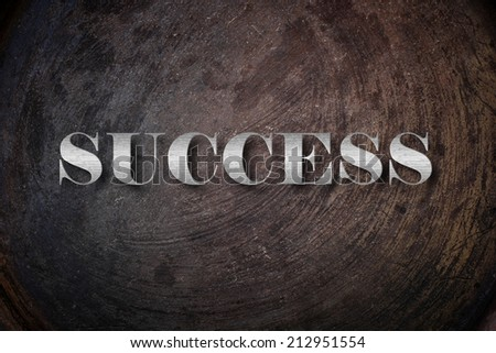 Success text on Background - stock photo