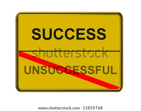 success - unsuccessful