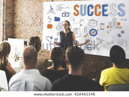 Success Victory Mission Motivation Concept - stock photo